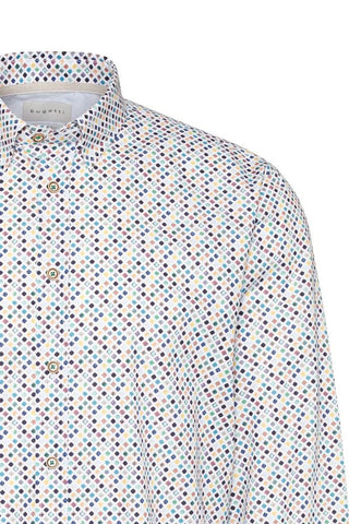 Bugatti – Geometric-Print Long-Sleeve Shirt