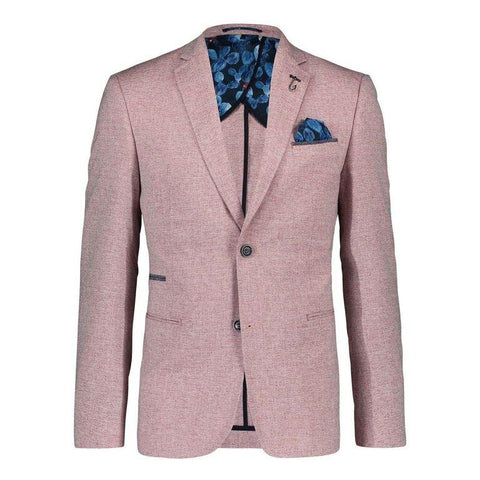 BLAZER RED LINEN LOOK