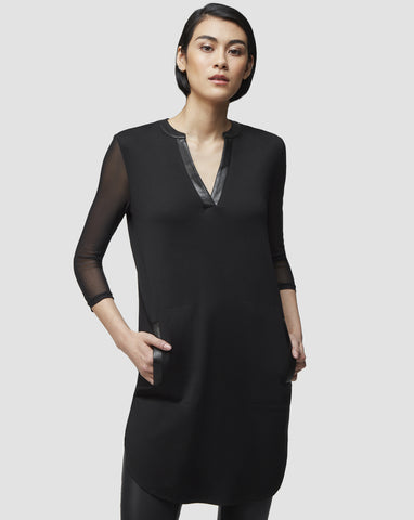 RUDSAK - MEXI, Tunic Dress with Mesh Sleeves