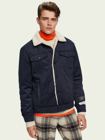 Scotch & Soda - Wool-blend Sherpa lined trucker jacket