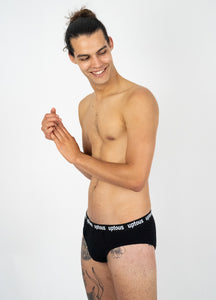 Black Organic Brief Men