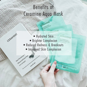 (10% OFF!) Ceramine Aqua Mask Bundle - 2 Packs (20 Sheets)