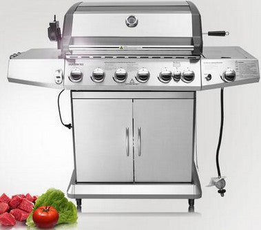 Image of SUS304 outdoor gas bbq grill eight burners