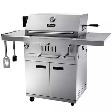 Image of Stainless steel charcoal BBQ grill