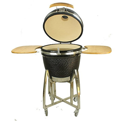 Image of 21 inch Black Ceramic BBQ Grill