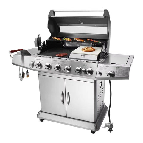 Image of Steel 304 grand outdoor gas bbq grill six burners
