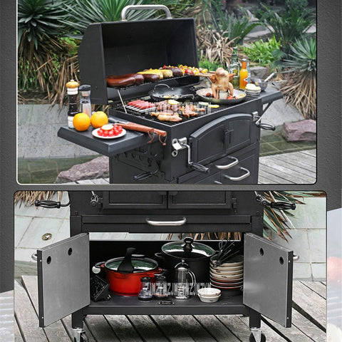 Image of Outdoor Charcoal Large Villa Charcoal Grill