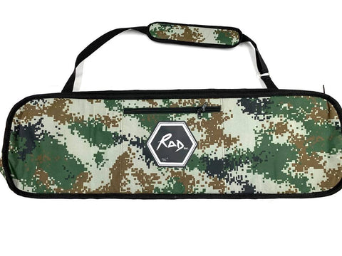 "RAD Skateboard Travel Bag Green Glitch 34"" Street Board"