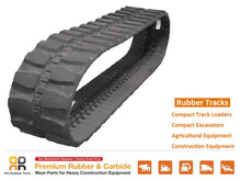 Load image into Gallery viewer, Rubber Track 400x72.5x72 YANMAR B50-1 B50-2 B50-2B THOMAS T-45S mini excavator-Rio Rubber Track