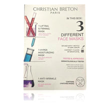 Load image into Gallery viewer, Christian BRETON Paris Pack of 3 Different Face Masks Lifting & Firming, Moisturising and Anti Wrinkle.