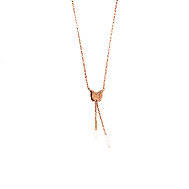Collier 'Schmetterling' rose gold