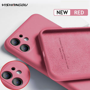 For iPhone 11 Pro SE 2 Case Luxury Original Silicone Full Protection Soft Cover For iPhone X XR 11 XS Max 7 8 6 6s Phone Case