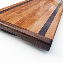 Load image into Gallery viewer, Cherry and Walnut Cutting Block - Edge Grain