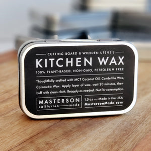 Kitchen Wax - Plant Based Wood Care - 1.5oz