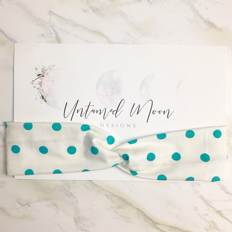 Turquoise Dotted