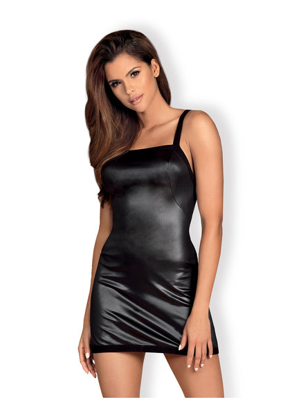 OB Leatheria chemise & thong black