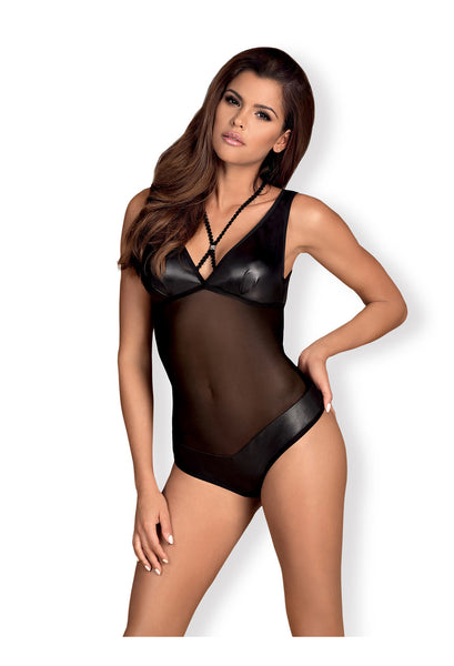 OB Leatheria teddy black