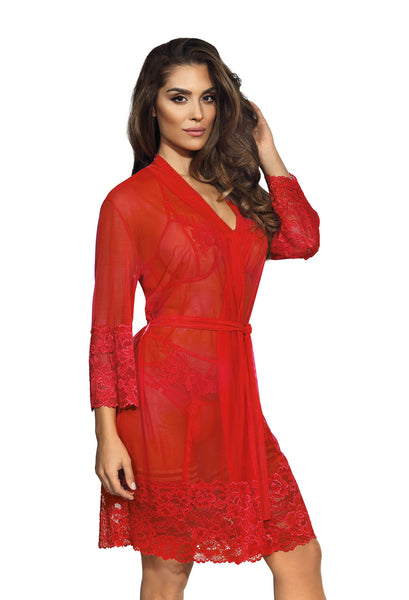 V-8860 peignoir red
