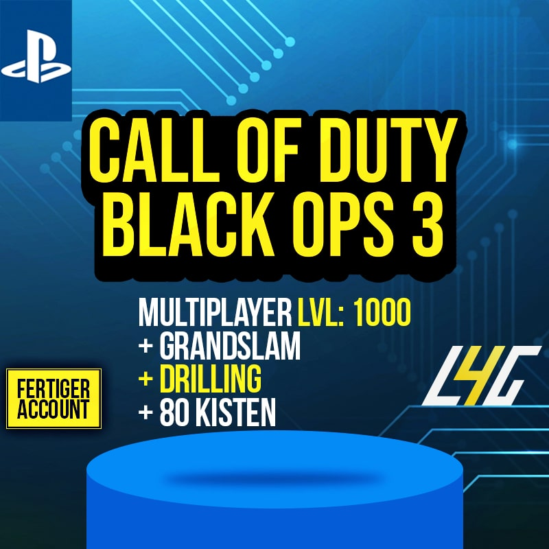 PS4 - COD: Black Ops 3 MP Level 1000 + GrandSlam + Drilling + 80 Kisten Account loot4games.myshopify.com (4511465406552)