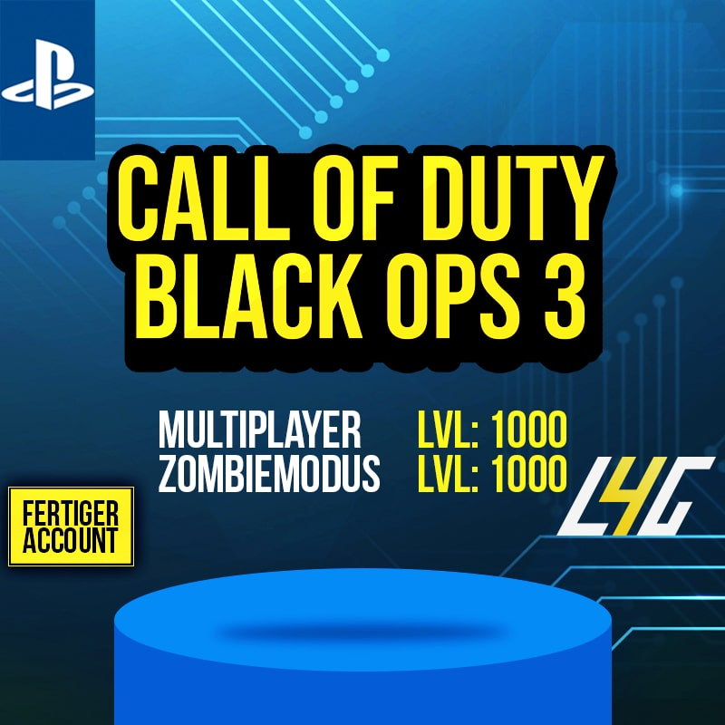 PS4 - COD: Black Ops 3 Multiplayer + Zombie Level 1000 Account loot4games.myshopify.com (4511456133208)