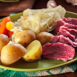 Steamed Corned Beef & Cabbage