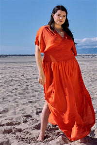 Plus Size Kimono Dress Beach Cover