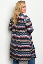 Load image into Gallery viewer, Navy Multi Print Cardigan