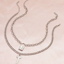 Load image into Gallery viewer, Key & Lock Pendant Necklace