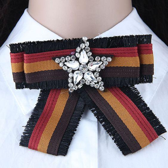 Five Pointed Star Collar Brooch