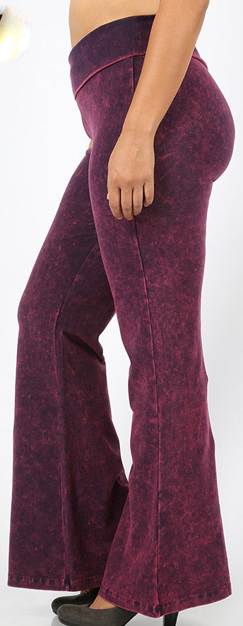Mineral Washed Flare Yoga Pants