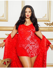 Load image into Gallery viewer, Red Satin Robe Set
