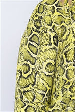 Load image into Gallery viewer, Yellow Animal Print  Blouse