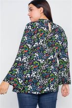 Load image into Gallery viewer, Floral Bell Sleeve Blouse