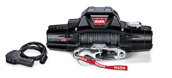 Warn Industries | Zeon 8S Truck/SUV Winch | 8,000lb Capacity | 100' Synthetic Rope | 89305