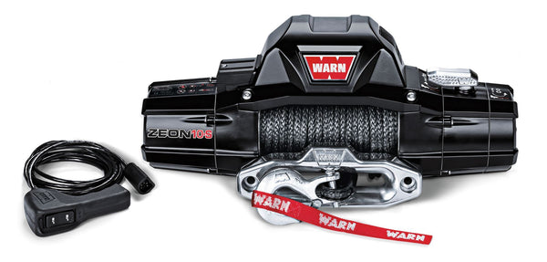 Warn Industries | Zeon 10 Truck/SUV Winch | 10,000lb Capacity | 80' Steel Rope | 88990