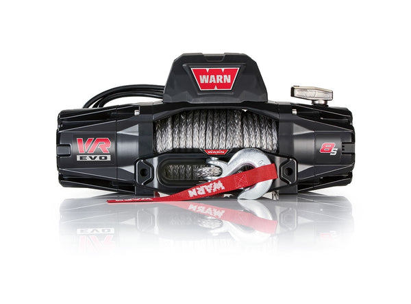 Warn Industries | VR8-S Truck/SUV Winch | 8,000lb Capacity | 90' Synthetic Rope | 103251