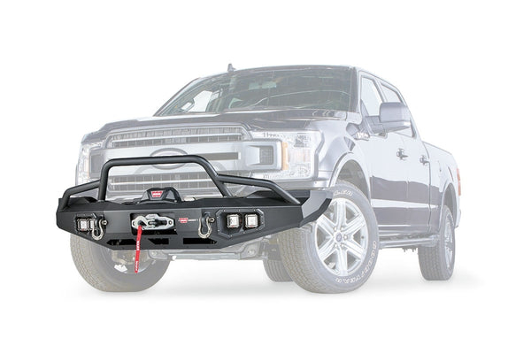 Warn Industries | Ascent Full Width Bumper | 2018-2019 Ford F150 | Black | 100916