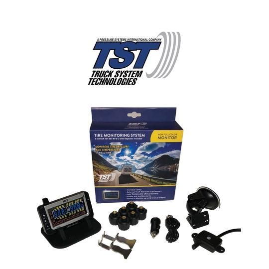 TST Tire Pressure Monitoring System | 6 RV Cap Sensor TPMS System with Color Display | TST-507-RV-6-C
