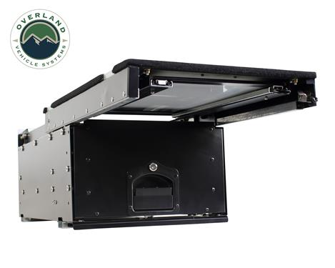Overland Vehicle Systems | Cargo Box w/Slide-out Drawer & Work Station | 21010201