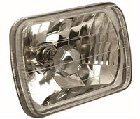 Anzo USA | Universal Standard Beam Headlight Housing | Chrome Housing/Clear Lens | H4 Bulb | 841004