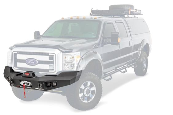 Warn Industries | Ascent Full Width Bumper | 2011-2016 Ford F250/F350 Superduty | Black | 100917