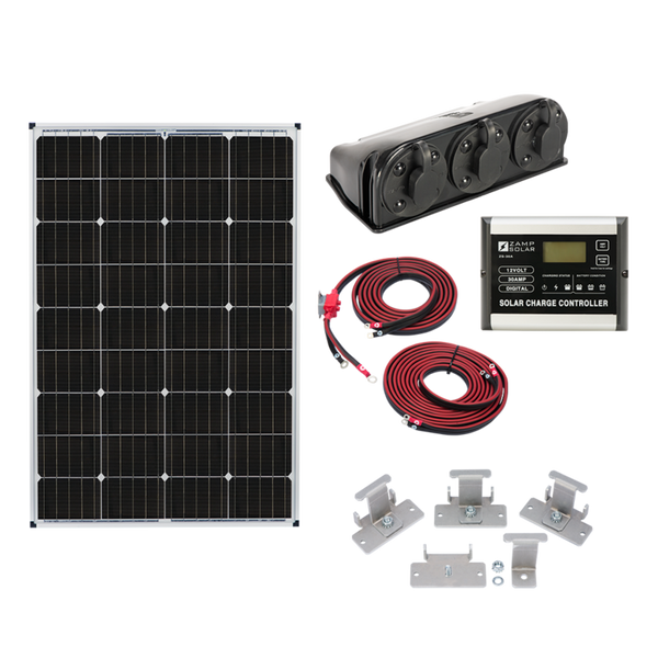 Zamp Solar | 115w Roof Mount Solar Kit | KIT-1003