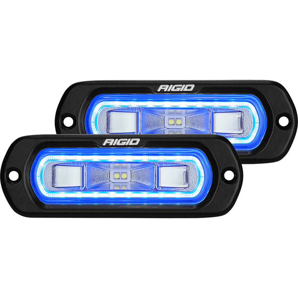 Rigid Industries | SR-L Series LED Spreader Light | Flush Mount | Black Housing | Blue Halo | 53221