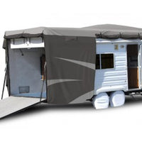 Adco | Moderate Climate | Designer Series RV Cover | Toy hauler Up To 20' | Gray | 52271