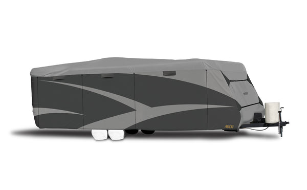 Adco | Moderate Climate | Designer Series RV Cover | Travel Trailer Up To 15' | Gray | 52238