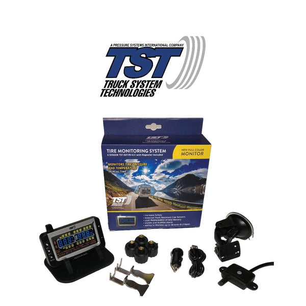 TST Tire Pressure Monitoring System | 507 Series | 4 RV Cap Sensor TPMS System with Color Display | TST-507-RV-4-C