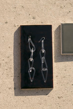 Load image into Gallery viewer, Jane D'Arensbourg | Clear Tear Drop Chain Glass Earrings