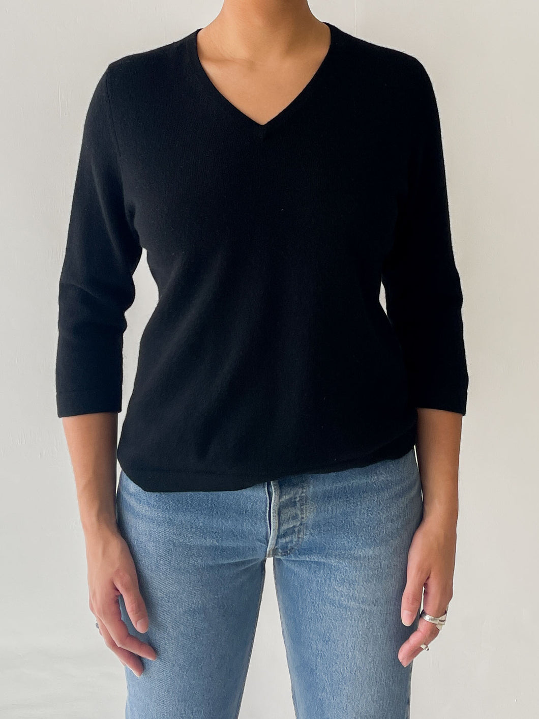 Black Cashmere Short Sleeve (M)