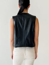 Load image into Gallery viewer, Black Leather Vest (S)