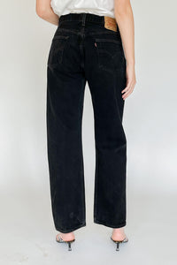 Levi's 501 Black Mid Rise Denim (M)